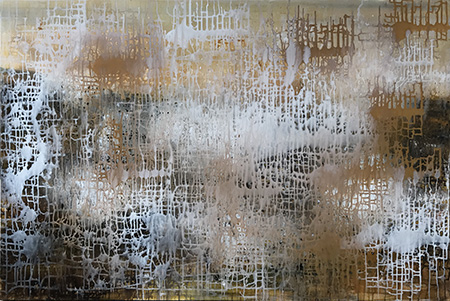 Golden Weave Abstract Art Judy Wood NZ Artist