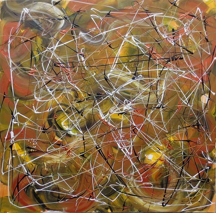 Caramel Delight Abstract Art NZ Judy Wood