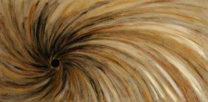 Abstract art gold vortex