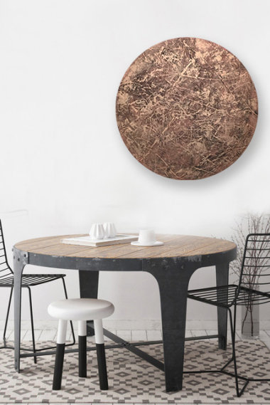 Artwork 10 - Red Copper over dining table